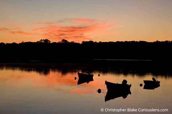 Sunrise and Small Boats - Cape Cod.