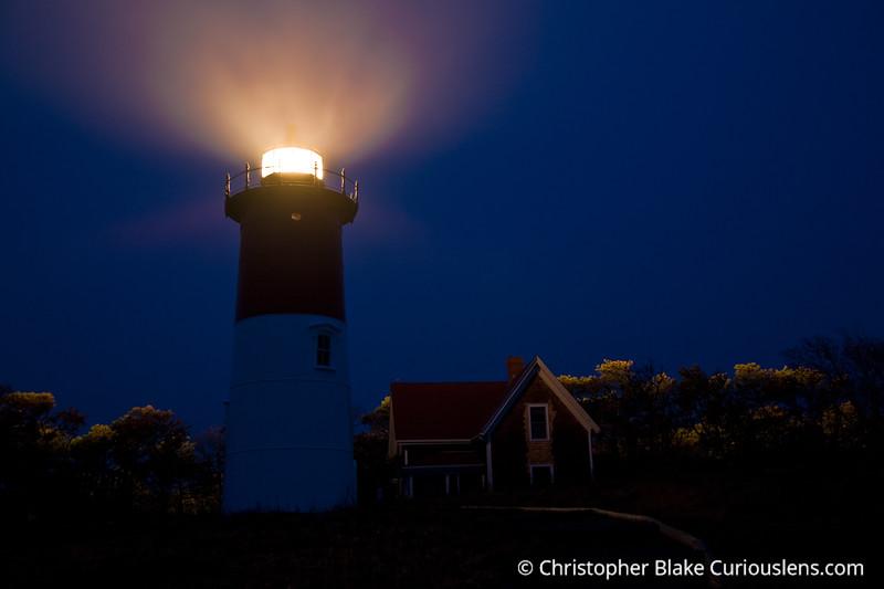 Lighthouse and Fog -  Cape Cod