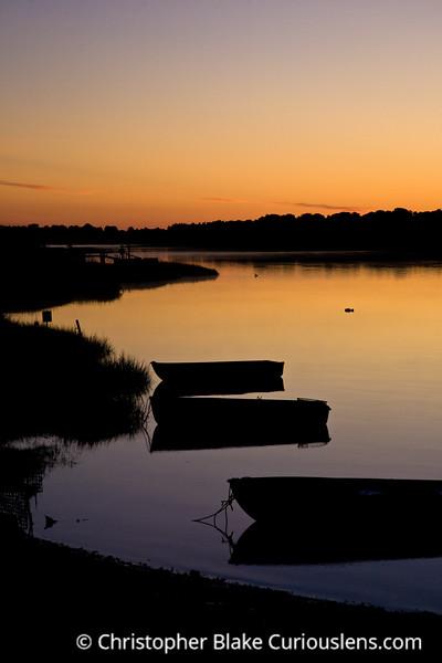Sunrise and Small Boats - Cape Cod-2