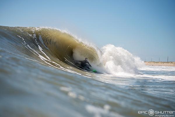 April 21, 2019 Easter Barrels, Cape Hatteras National Seashore, Buxton, North Carolina, Waves, Swell, AquaTech Imaging Solutions, Nikon, Surfers, Surfing