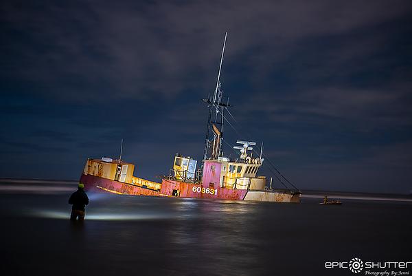 April 4, 2020 Ocean Pursuit Shipwreck at Oregon Inlet