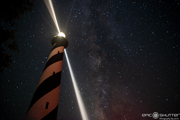 August 25, 2019, Cape Hatteras Lighthouse Stuck Under the Milky Way, Buxton, North Carolina, Epic Shutter Photography, Outer Banks Photographers, Cape Hatteras Photographers, Milky Way, Night Photography