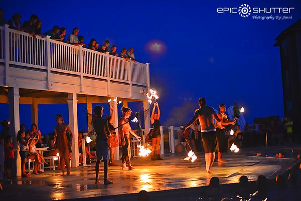 Summer Nights, Beach Klub, Avon, Hatteras Island, NC, Tuesday Night Luau's, Fire Dancing, Mermaids, Pirates, Music and More