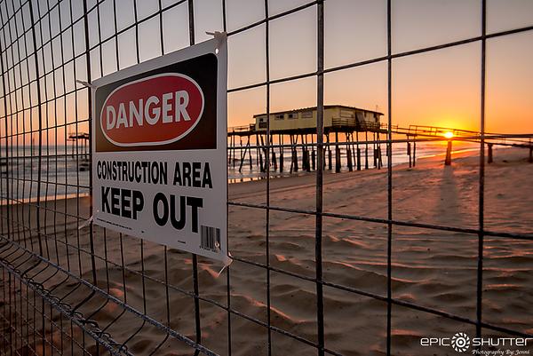December 11, 2017, Frisco Pier Construction Starts, Sunset, Frisco, North Carolina, Epic Shutter Photography, Outer Banks Photographers