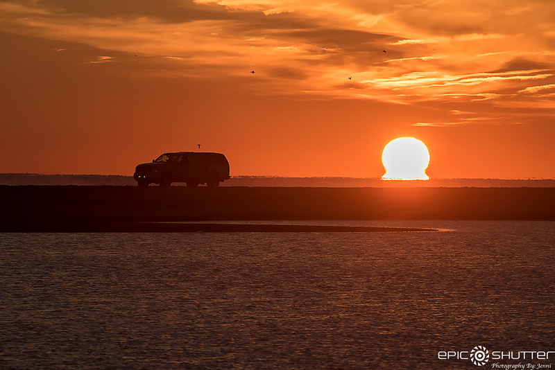 December 29, 2017, Cape Point Sunset, End of the Earth, Buxton, Cape Hatteras National Seashore, Epic Shutter Photography