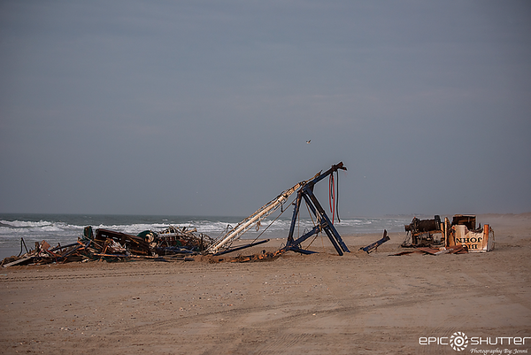 February 7, 2019, What is left of the Big John Shrimp Trawler, Sunrise, Frisco, Ramp 48-49, Outer Banks Photographer, Frisco, North Carolina, Hatteras Island, Cape Hatteras National Seashore, Photographer, Graveyard of the Atlantic, Shipwreck, Growing Up