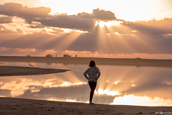 January  27, 2018, Cape Point Sunrise, Buxton, Cape Hatteras National Seashore, Fisherman, Epic Shutter Photography
