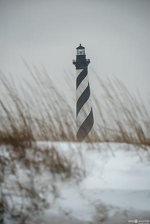 January  4, 2018, Winter Storm Grayson, Surfing, Snow, Avon, Buxton, Cape Hatteras National Seashore, Cape Hatteras Lighthouse, Epic Shutter Photography