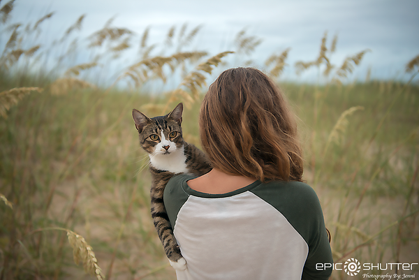 July 17, 2017, Avon, Hatteras Island, Backyard, Island Evenings, My Daughter and our Beach Cat Leo,Epic Shutter Photography