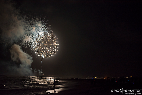 July 4, 2017, Fireworks, Avon Fishing Pier, Hatteras Island, North Carolina, Cape Hatteras National Seashore, Independence Day, Epic Shutter Photography