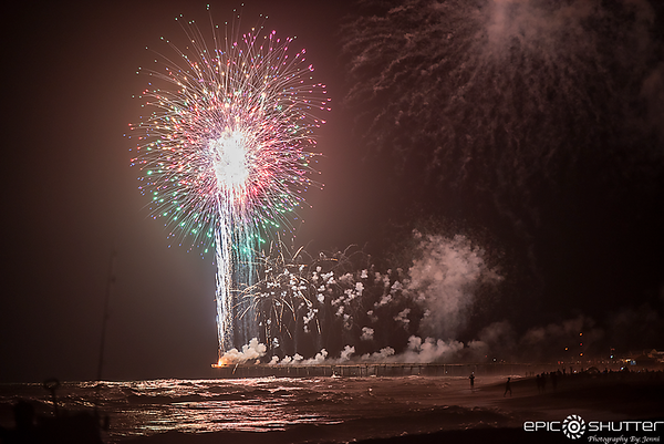 July 4, 2018, Fireworks, Avon Fishing Pier, Hatteras Island, North Carolina, Epic Shutter Photography, Outer Banks Photographers, Hatteras Island Photographers, Cape Hatteras National Seashore, Epic Events