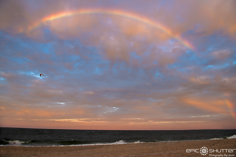 June 11, 2019 Rainbow after Thunderstorms, Salvo, North Carolina, Outer Banks Photographer, OBX Photographers, Cape Hatteras Photographers, Cape Hatteras National Seashore, Outer Banks, Epic Shutter Photography, Island Nights, Island Weather, Sunset, Ocea