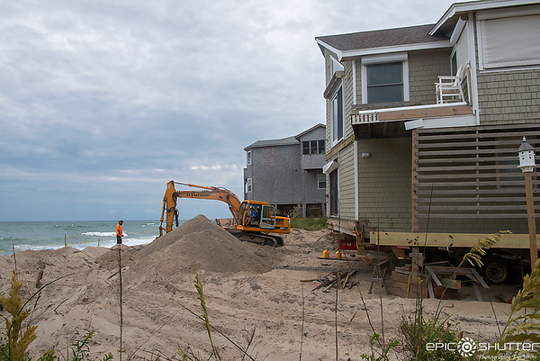 June 20, 2018, Update on the two houses in Rodanthe that almost collapsed during Tropical Storm Chris, Mermaid's Tears, Rodanthe, North Carolina, Hatteras Island Documentary Photographer, Outer Banks Documentary Photographer, Weather and Storms, Epic Shut