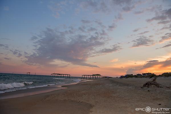 June 27, 2017, Frisco Pier, Sunset, Frisco, Hatteras Island, North Carolina, Epic Shutter Photography