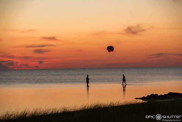 June 28, 2017, Sunset, Kinnakeet Shores, Kinnakeet Sunset, Avon, Hatteras Island, North Carolina,Hot Air Balloon Lanterns, Epic Shutter Photography