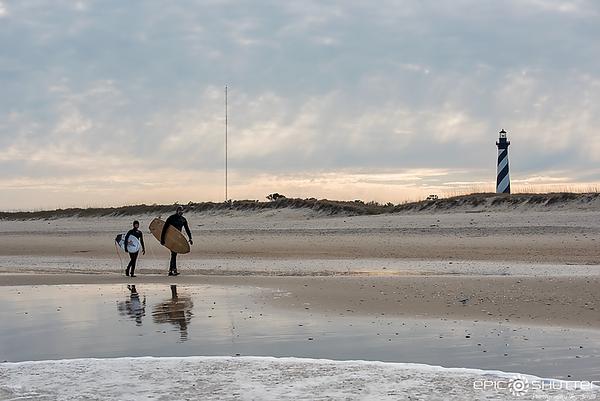 March 22, 2018, Buxton, Cape Hatteras Lighthouse, Cape Hatteras National Seashore, Surfing, Kai Wescoat, Elwood Wescoat, Epic Shutter Photography