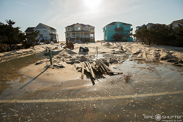March 28, 2018, Morning High Tide Hits South Avon, Storms, Spring, Avon, Hatteras Island, North Carolina, Weather and Storms, Epic Shutter Photography