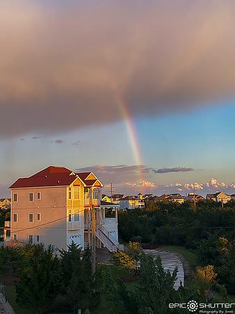 May 1, 2020 Sunset Rainbow, Avon, NC