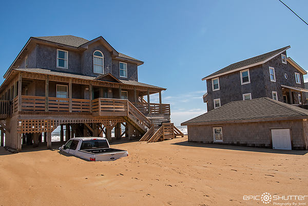 October 11- 12, 2019, Subtropical Storm Melissa, Buxton, North Carolina, Avon, Flooding, High Tide, Sunset, Stuck, Vehicles, Buried in Sand, Epic Shutter Photography, Outer Banks Photographers, OBX Photographers, Documentary Photographers, Cape Hatteras