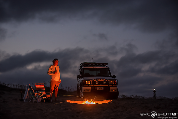 October 13, 2020 Cape Hatteras Lighthouse Campfire, Land Rover