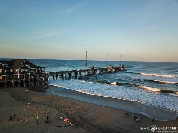 October 24, 2020 Epsilon Swell, Jennette's Pier,  Aerial Photos