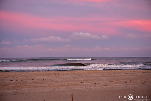 October 27, 2018, Avon, North Carolina, Sunset, South Swells, Waves, Hatteras Island, North Carolina, Epic Shutter Photography, Hatteras Island Documentary Photographers, Outer Banks Photographers, Barrels, Waves