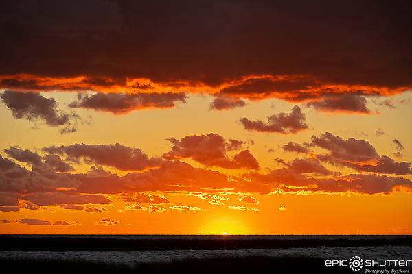 October 30, 2020 Sunset over Pamlico Sound, Avon, NC