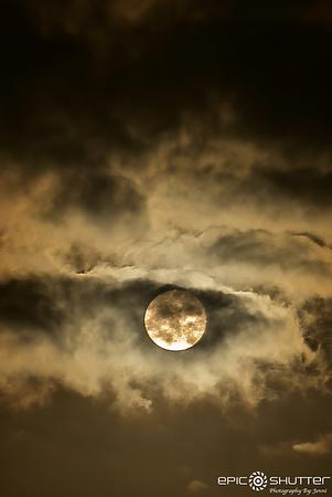 October 5, 2017 Full Moon, Harvest Moon, Avon, Hatteras Island, North Carolina, Epic Shutter Photography