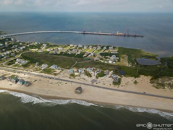 July 31, 2020 Rodanthe Jug Handle Bridge Progress