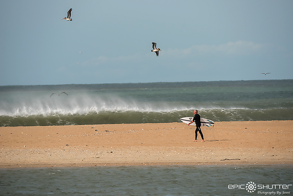 September 10, 2017, Low Tide, Shelly Island, Cape Point, Surfing, Irma Swell, Hurricane Irma, Cape Hatteras National Seashore, Epic Shutter Photography, Surf Photography