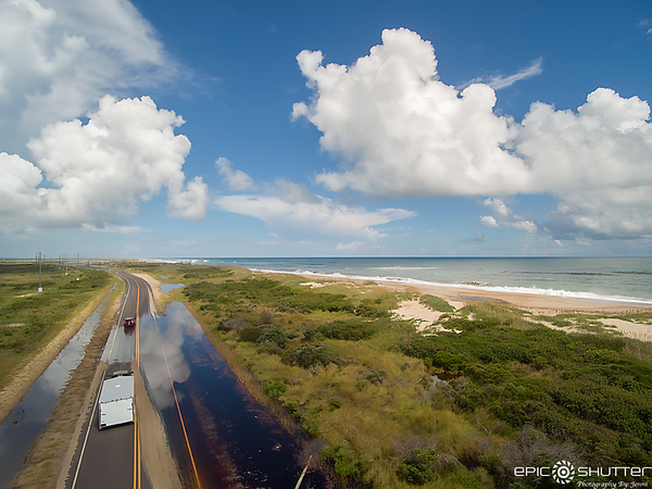September 11, 2018 Drone Photos, Pea Island, Route 12, Boarding up Houses and Business' for Hurricane Florence, Epic Shutter Photography, Outer Banks Documentary Photographer, OBX Photographers, Hatteras Island Photographer, Weather and Storms, Hurricane