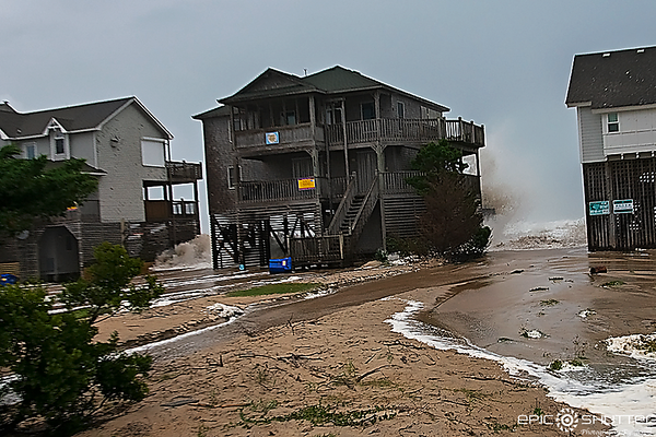 September 13, 2018 Hurricane Florence, Cape Hatteras National Seashore, Buxton, Cape Hatteras Motels, Ocean View Drive, Avon, North Carolina, Frisco Pier, Route 12, Flooding, Outer Banks, Documentary Photographer, Hatteras Island Photographer, Hurricane S