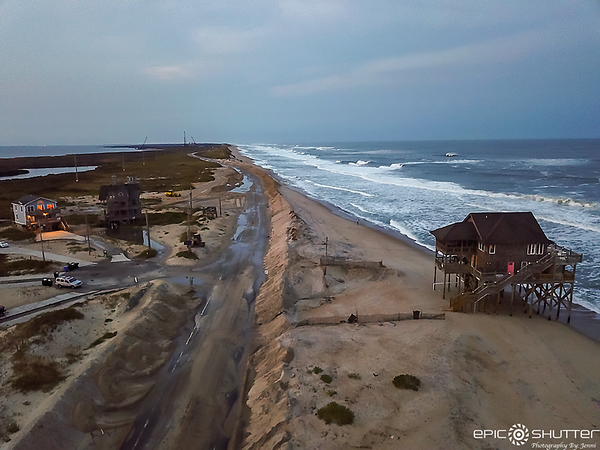 September 23, 2020 Rodanthe Rt 12 Closed, Aerial Photography