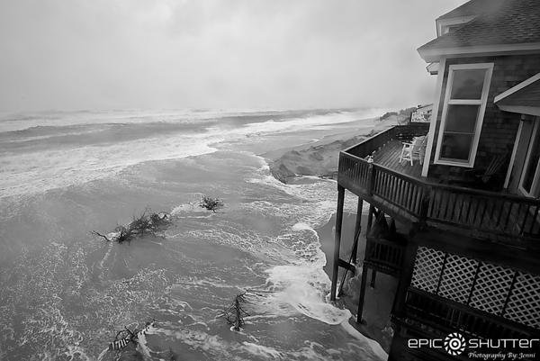 September 26, 2017, Hurricane Maria, Just After High Tide, South Avon, Hatteras Island, North Carolina, Epic Shutter Photography