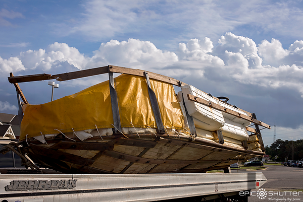 September 28, 2016, Cuban Refugee Raft found offshore Hatteras Island, NC, Epic Shutter Photography