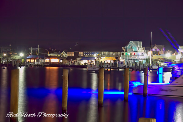 Oak Bluffs Harbor on a cold December night