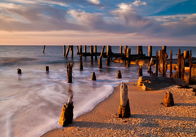 Long Exposure of Pier, Sunset Beach, Cape May, New Jersey