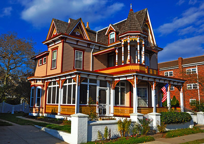 Colorful Victorian-style house in Cape May, New Jersey