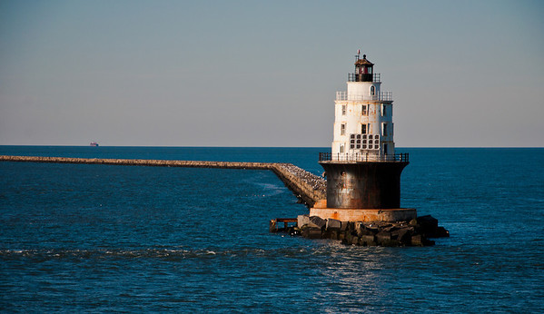 Lighthouse in the Delaware Bay, near the coast of Delaware.