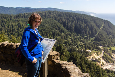 Felicity at Cape Perpetua Lookout