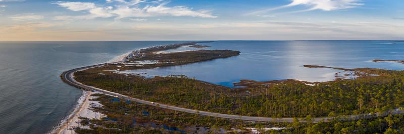 Cape San Blas Aerial 3x1