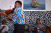 """Groupe de musiciens se produisant au restaurant """"Chez Loutcha"""" à Calhau. Ile de Sao Vicente/Cap-Vert"""