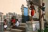Groupe d'enfants dans le village de Formiguinhas. Ile de Santo Antao/Cap-Vert