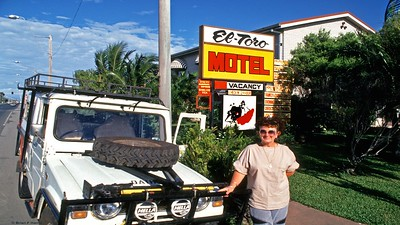 Barbara with the mighty 1980 Diahatsu 2.4 ltr diesel at our first night stop on the adventure. The real adventure with GTA leaves as a convoy from Cairns past Smithfield and up the Karanda Range.