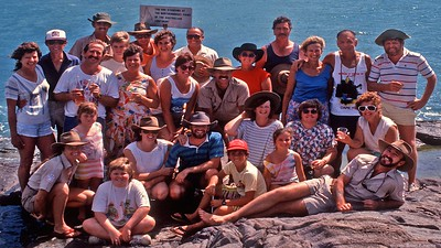 Our adventurers at the 'Tip' 1989. The first group here in 1989 after the eight month 'wet'.