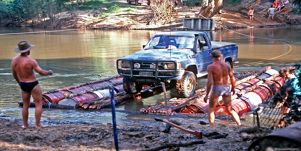 Neil and the Hilux make it over.