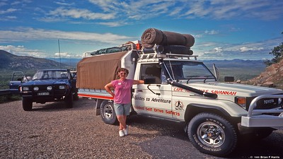 Barbara Harris with Scottys rig on our first days out of Cairns.
