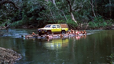 Dougs family Toyota Hilux crossing.