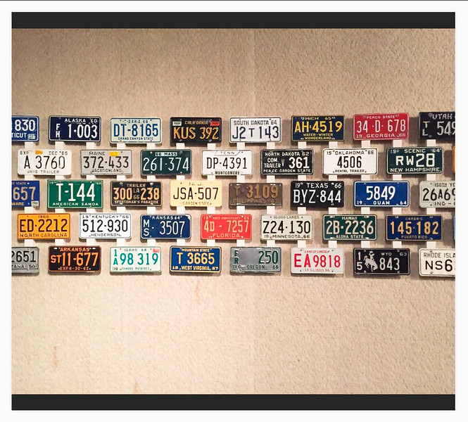 License Plates form many states & territories
