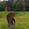 Two-part iron sculpture by Gordon Kennedy of Iron Art and Photographs, St. Ann's Bay.